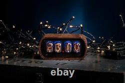 Nixie Röhren Uhr 4x Jahrgang Retro Uhr Röhre Tischuhr Nixie Tube Clock IN-12A