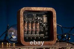 Nixie Röhren Uhr 4x Jahrgang Retro Uhr Röhre Tischuhr Nixie Tube Clock IV-16