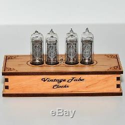 Nixie Tube Clock 4x IN-14 Nixie Clock Retro Desk Table Vintage Clock Assembled