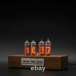 Nixie Tube Clock 4x IN-14 Replaceable Tubes, Motion Sensor, Visual Effects