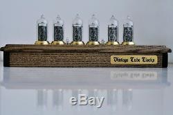 Nixie Tube Clock 6X IN-14 Schreibtisch Vintage Retro Nixie Tischuhr aus Holz El
