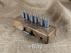 Nixie Tube Clock 6x IN-14 Vintage Retro Wooden Table Clock Assembled Gift Man