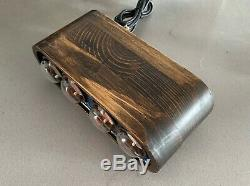 Nixie Tube Clock IN-1 Unique Vintage Clock assembled watch wooden case #40