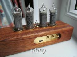 Nixie Tube Clock IN-14 Retro Vintage steampunk Wood enclosure Best gift Handmade