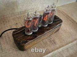 Nixie Tube Clock IN-14 Unique Vintage Clock assembled watch wooden case #10