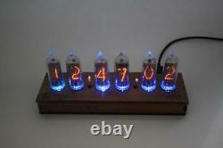 Nixie Tube Clock IN-14 tubes and case (LED / Remote Upgrades)