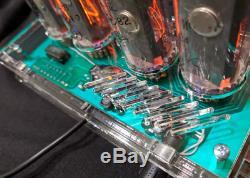 Nixie Tube Clock IN-18 Date Temperature Vintage Gas Discharge Lamp Clock