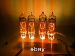 Nixie Tube Clock Kit with Tubes IN-14 IN14 Vintage Soviet Cold Cathode Clocks