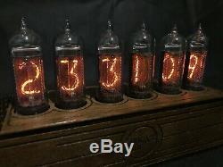Nixie Tube Clock Pulsar IN-14 RGB 6-tubes