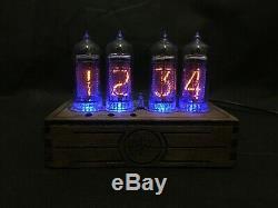 Nixie Tube Clock Pulsar IN-14 USB 4-tubes