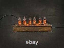 Nixie Tube Clock Vintage Pulsar IN-14 6-tubes