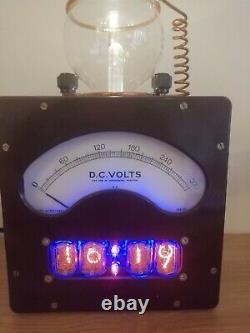 Nixie Tube Clock Vintage Voltmeter Bakerlite Light Lamp