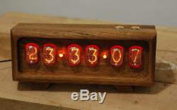 Nixie Tube Clock in-12 in quality packaging under the USSR oak gift to friend