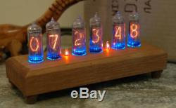 Nixie Tube Clock on gas indicators produced in the USSR in-14 6x of lamps