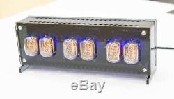 Nixie Tube Clock with 6x IN-12 unique vintage steampunk LED backlight Handmade