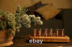 Nixie Tube Clock with Easy Replaceable IN-18 Nixie Tubes, Gift for him, Gift Ide