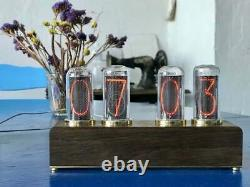 Nixie Tube Clock with New and Easy Replaceable IN-18 Nixie Tubes, Ideal Gift