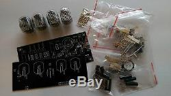 Nixie Tube clock KIT with IN-12 LED Alarm & Wooden Housing