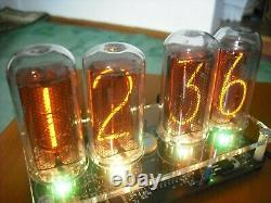 Nixie Tube clock with IN-18 Tube LED RGB Backlight Black PCB