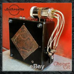 Nixie Tubes Alarm Clock 6 IN-12 Anthracite from Copper Cat Art Group Steampunk