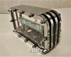 Nixie clock Adafruit Ice tube IV-18 VFD holiday gift vintage steampunk art clock