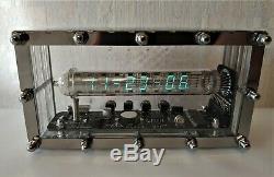 Nixie clock Adafruit Ice tube IV-18 VFD holiday vintage steampunk desk clock art