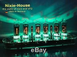 Nixie clock, Nixie tube clock, Nixie Uhr, Nixie IN 14, Made in Germany