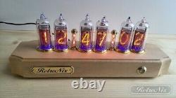 Nixie tube Clock with IN-14 in maple-tree case from RetroNix
