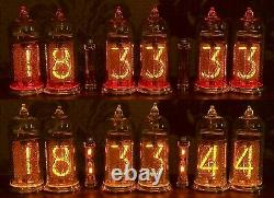 Nixie tube Clock with IN-14 in oak-tree case from RetroNix