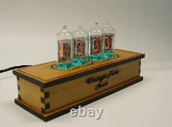Nixie tube Z570 alder wood clock with RGB backlight