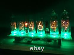 Nixie tube clock IN-14 (6 tube) Green US power adapter included with calendar