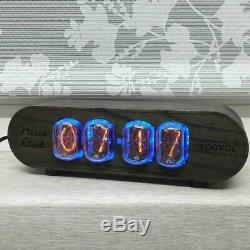 Nixie tube clock IN12 RetroVintage Clock solid wood case ASH lamp wooden clock