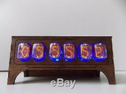 Nixie tube clock IN12 table desk retro old vintage clock for bedroom by JTNlab