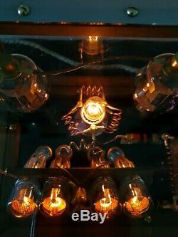 Nixie tube clock Tesla-apunk lighting design