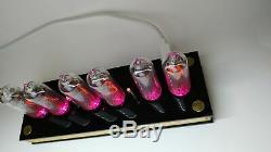 Nixie tube clock include IN-14 tubes and plywood black case retro vintage