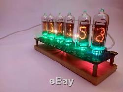 Nixie tube clock include IN-14 tubes and stand Table Retro Old School