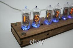 Nixie tube clock with 6pcs RFT Z570M tubes and case, FINE 5 NOT UPSIDE DOWN 2