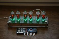 Nixie tube clock with 6pcs RFT Z570M tubes clear, FINE 5 NOT UPSIDE DOWN 2