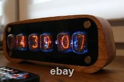 Nixie tube clock with IN-12 and case tubes Alarm Remote Control Temperature