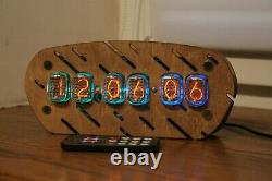 Nixie tube clock with IN-12 tubes Vintage Desk Table Remote Auto Temperature