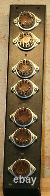 Nixie tube round NEON READOUT valve BURROUGHS BAR 1 inch with socket base clock
