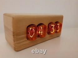 OL Series by Monjibox Nixie Uhr Clock IN12 tubes wooden case