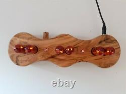 Olive wood Dacian Series by Monjibox Nixie Clock Z570M tubes