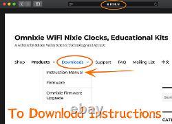 Omnixie Plus Nixie Tube Clock IN18 Z566M WIFI sync time wood case setup with phone
