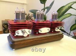 Original Monjibox Clock RED VRUUUM IN14 tubes