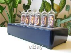PJ700 IN14 Nixie Clock Uhr in Blue aluminium case by Monjibox Nixie