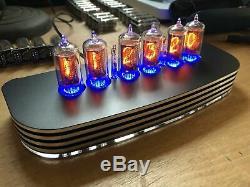PVE QTC+ Nixie Tube Clock British ZM1080 Tubes Black Alloy Case+PSU (Clock J)