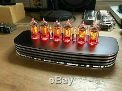 PVE QTC+ Nixie Tube Clock +V-Rare Tesla ZM1082T Tubes Black Alloy Case+PSU (1)