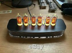 PVE QTC+ Nixie Tube Clock +V-Rare Tesla ZM1082T Tubes Black Alloy Case+PSU (A)