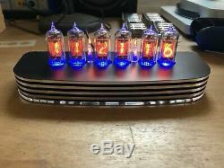 PVE QTC+ Nixie Tube Clock +V-Rare Tesla ZM1082T Tubes Black Alloy Case+PSU (B)